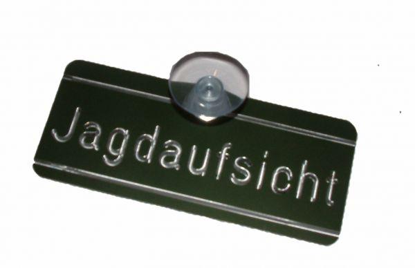 Autoschild: Jagdaufsicht