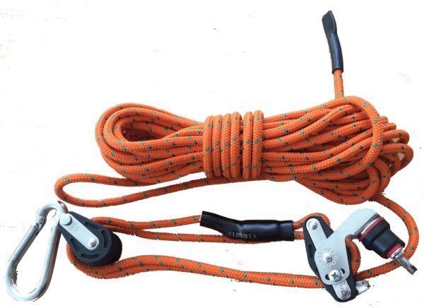 Wildgalgen System Flaschenzug Pro mit Seilklemme (Schotklemme)